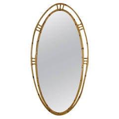 Superb Spanish Big Size Bamboo Oval Mirror