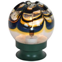 Giant Mazzega Murano Glass Globe Table Lamp