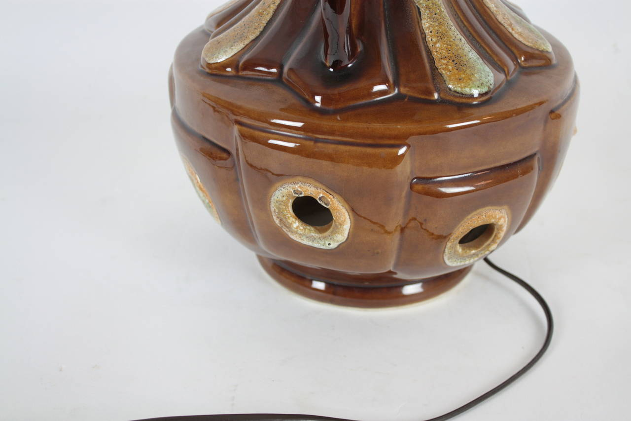 Massive Outdoor Lampen : Massive mid century fat lava pottery table lamp with original tall
