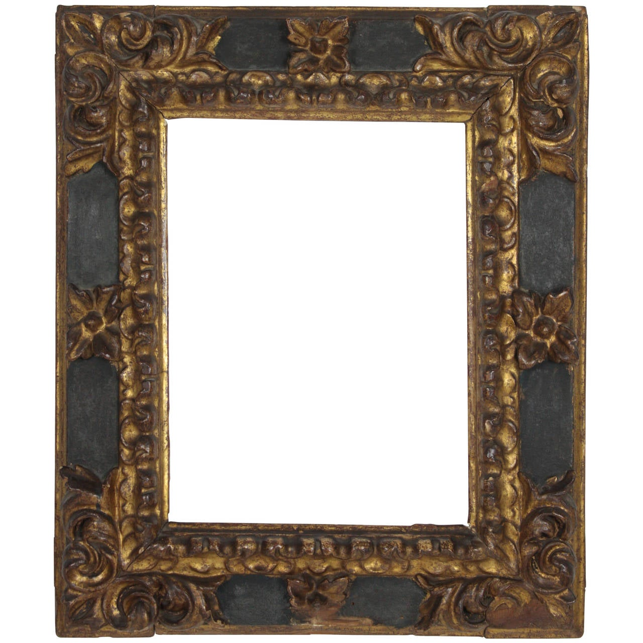 17th century spanish baroque carved wood gold leaf frame for sale 17th century spanish baroque carved wood gold leaf frame for sale jeuxipadfo Image collections