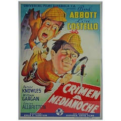 """Original Spanish Film Poster from the film """" Who done it? """""""