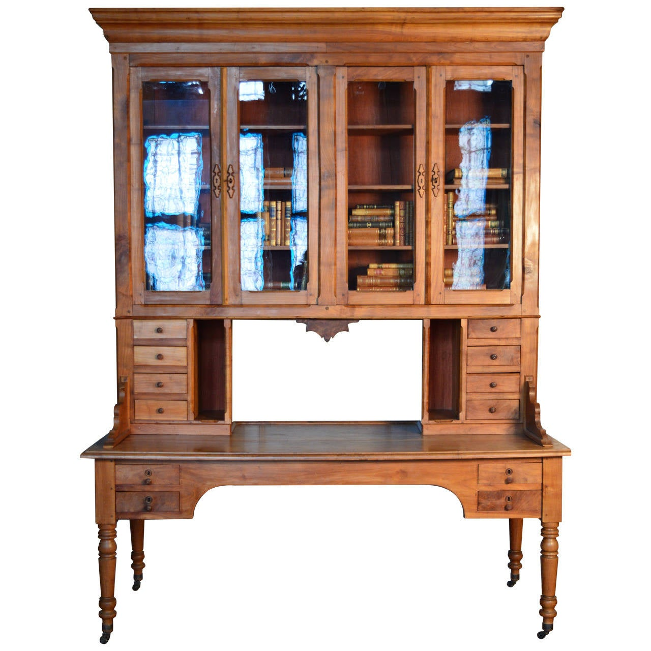 #2271A9 19th Century French Cherry Wood Bibliotech Bookcase Desk At 1stdibs with 1280x1280 px of Most Effective Solid Wood Bookcases Cherry 12801280 wallpaper @ avoidforclosure.info