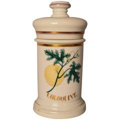 19th Century French Porcelain Apothecary Jar