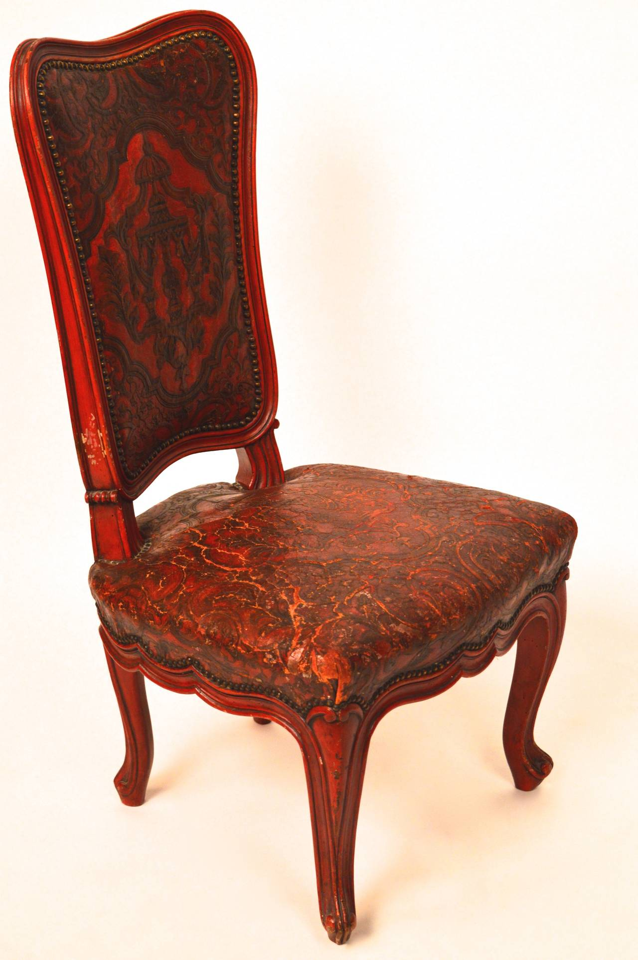 19th Century Dutch Childrens Chair With Chinoisserie
