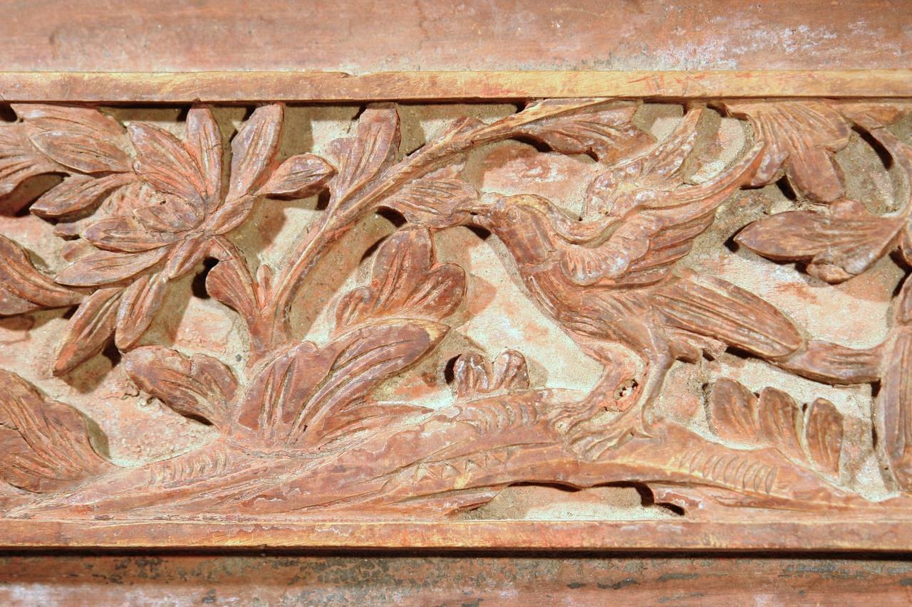Th century chinese carved wood panel at stdibs