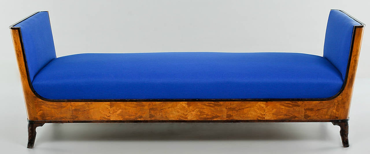 Swedish Grace Daybed by Eric Chambert, Upholstered in Blue Wool 3