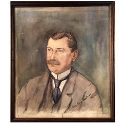 Scandinavian Watercolor Portrait of a Gentleman