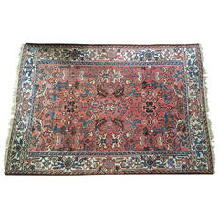 Lovely Semi-Antique Peach Color Persian Carpet