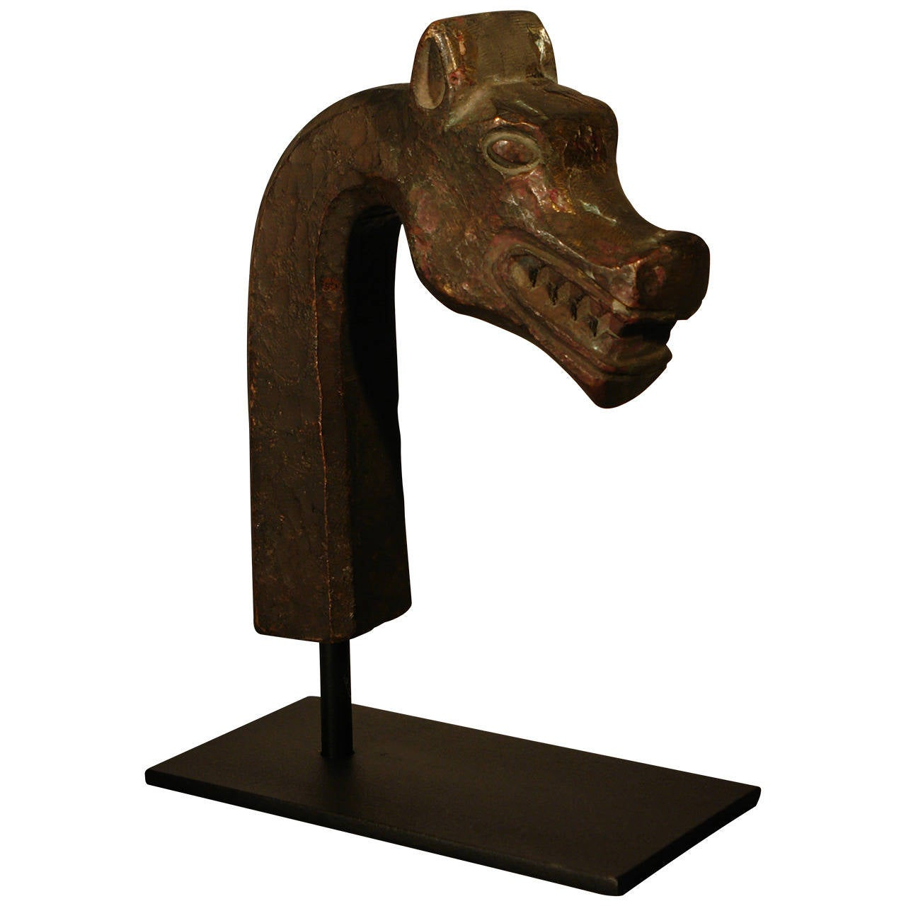 French Art Deco Bronze Mythological Beast Head Sculpture, circa 1930