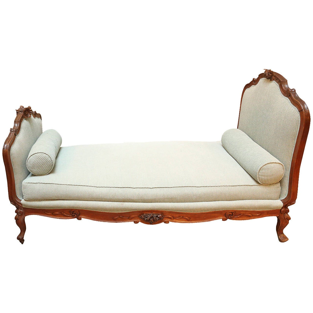 Antique Walnut French Daybed single bed or deep sofa at 1stdibs