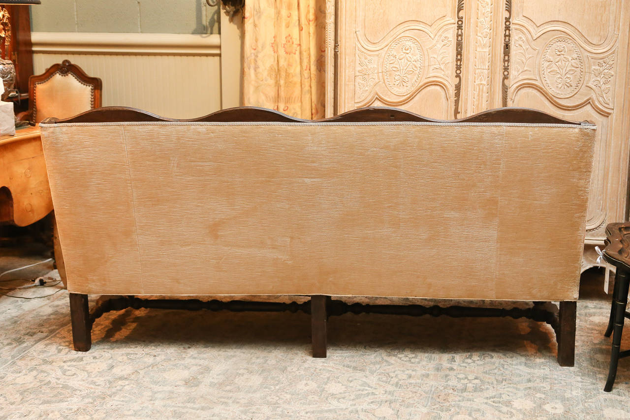 Early 19th Century 18th Century Oak Frame French Settee For Sale