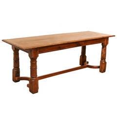 Antique Chestnut Console Table