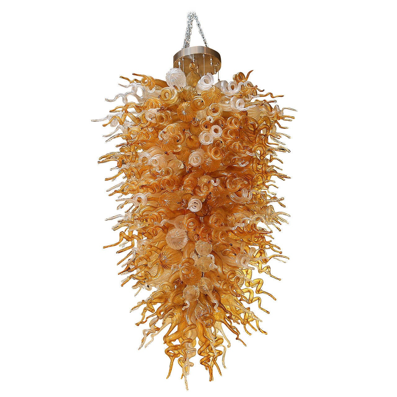 Chihuly Style Chandelier At 1stdibs