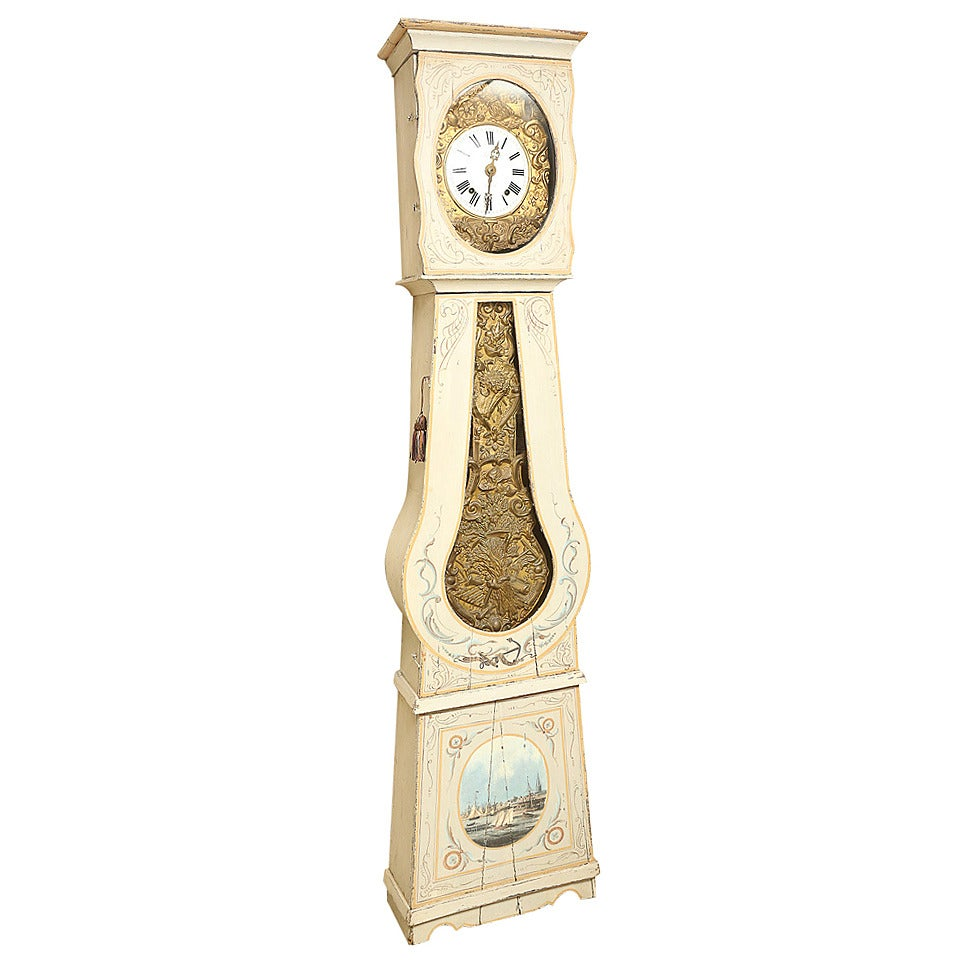 Painted French Longcase Clock 1