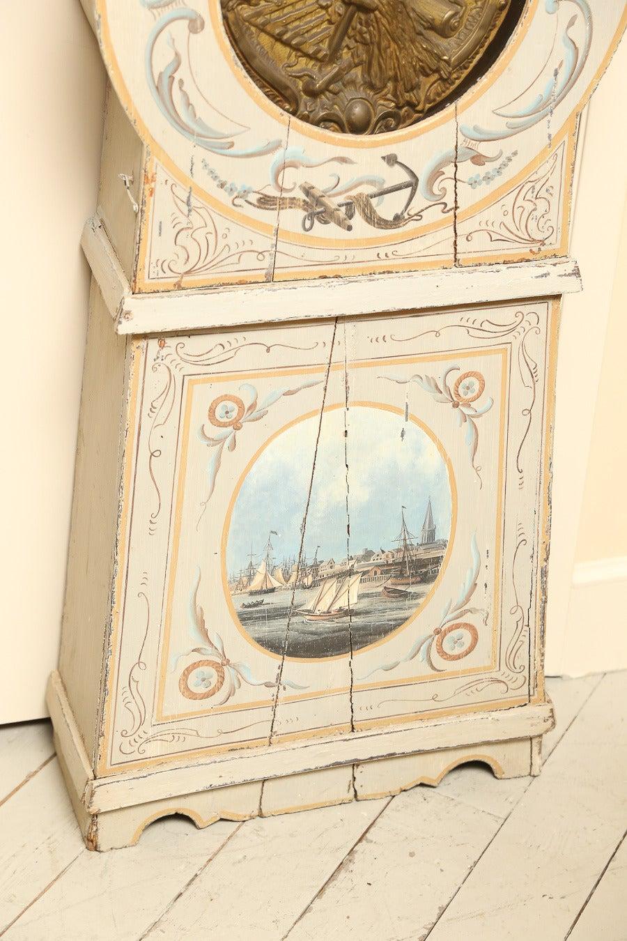 Painted French Longcase Clock 4