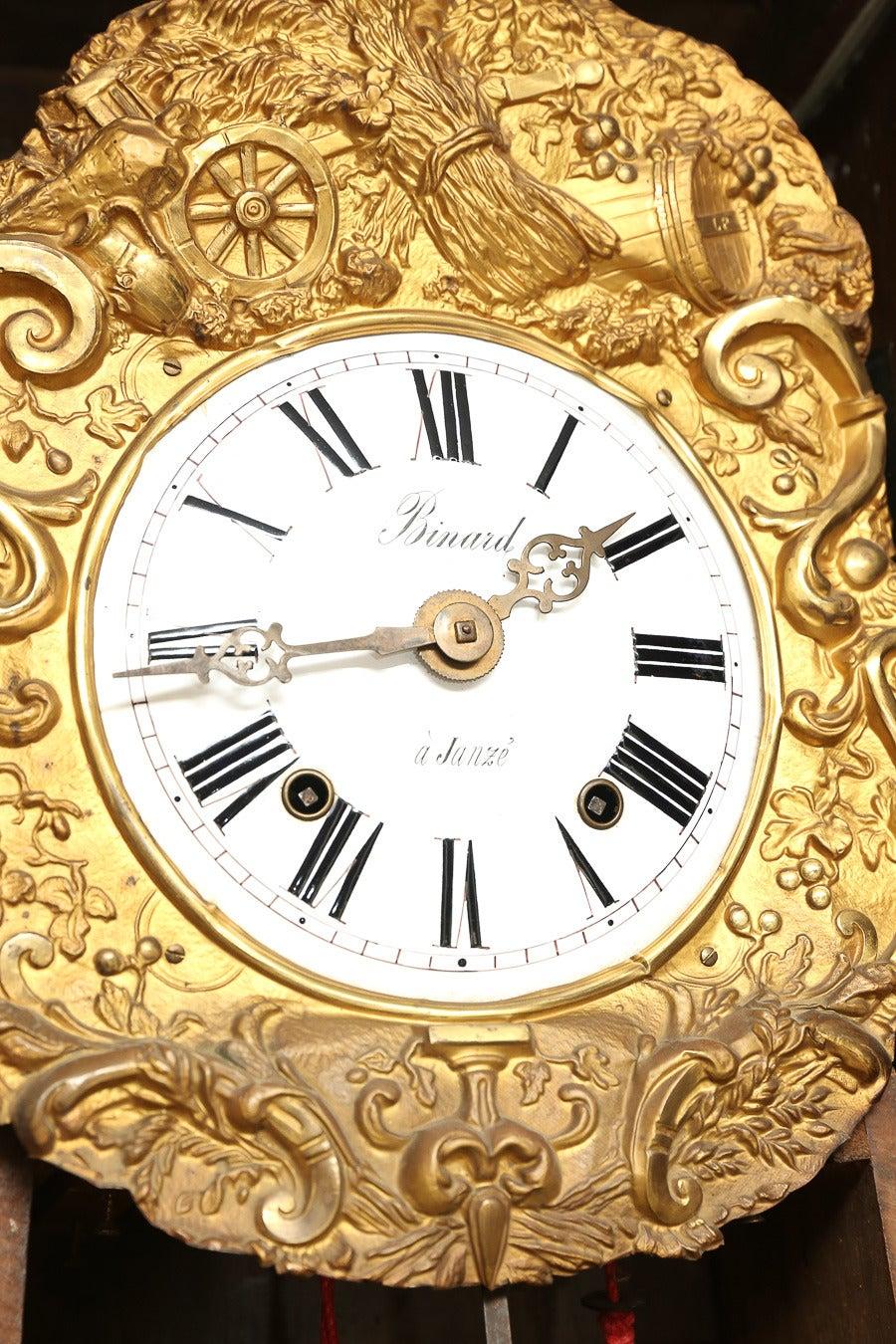 Painted French Longcase Clock 5