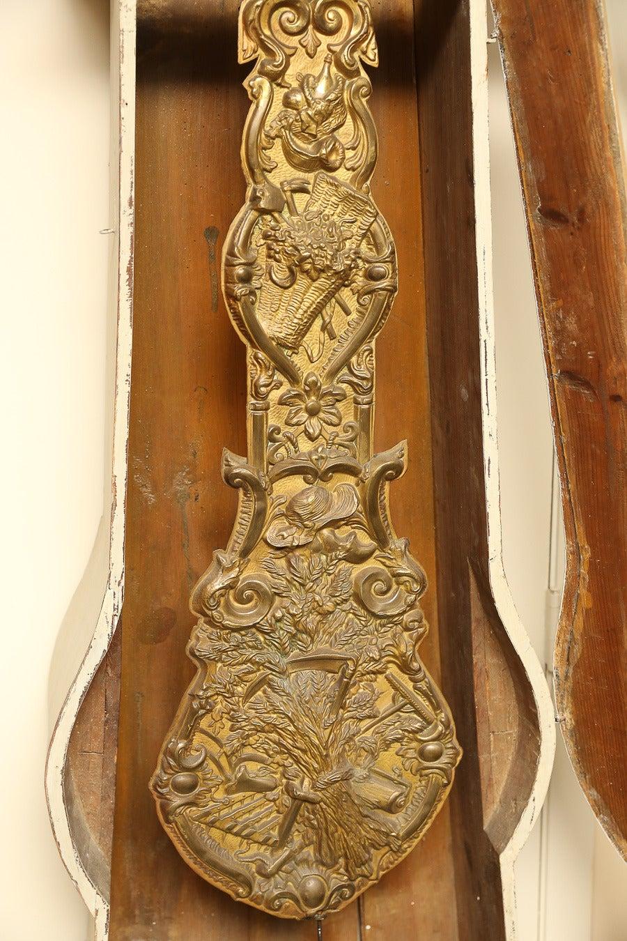 Painted French Longcase Clock 7
