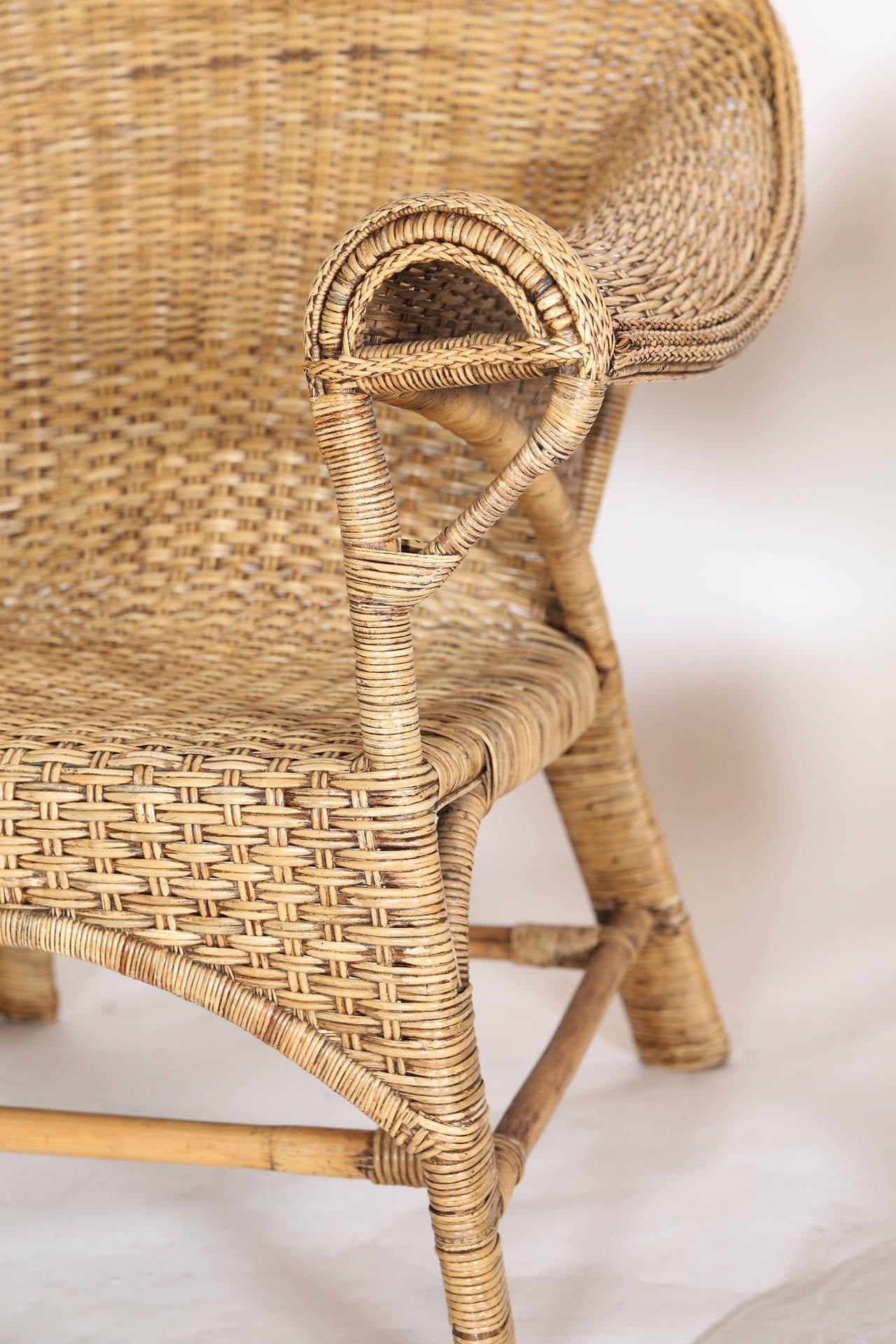 Pair Of Vintage Ginsburg Of San Francisco Wicker Chairs For Sale - Vintage furniture san francisco