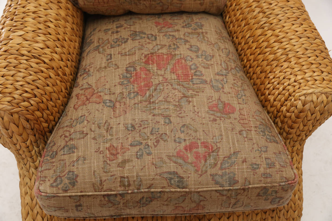 Pair Of Ralph Lauren Seagrass Club Chairs At 1stdibs
