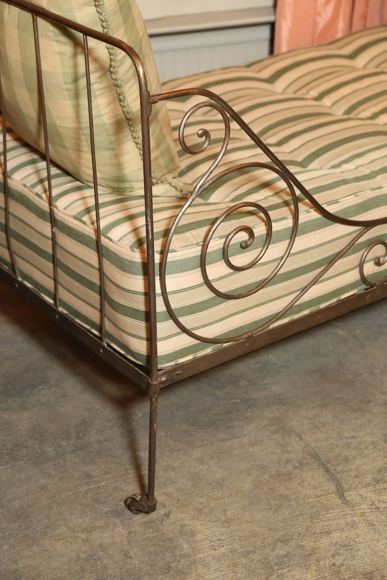 This antique french cherry side table is no longer available - Vintage Metal Daybed At 1stdibs