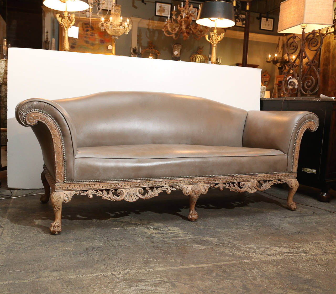Chippendale sofaschippendale sofas - George Ii Style Irish Chippendale Sofa 2