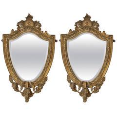 Pair of 18th Century Georgian Gilt Mirrors/Girandoles