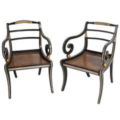 Pair of Period English Regency Armchairs