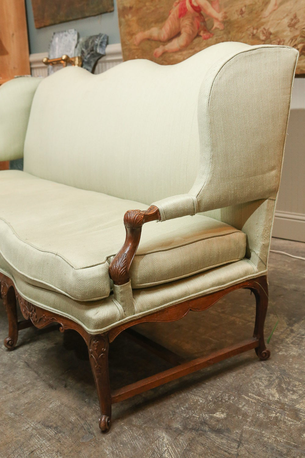 vintage settee for sale antique carved walnut settee for at 1stdibs 6862