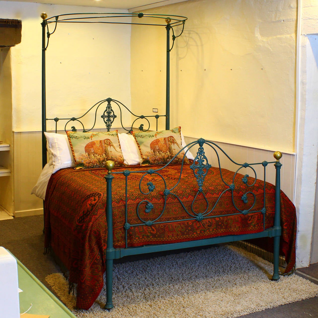 Mid Victorian Iron Half Tester Bed At 1stdibs