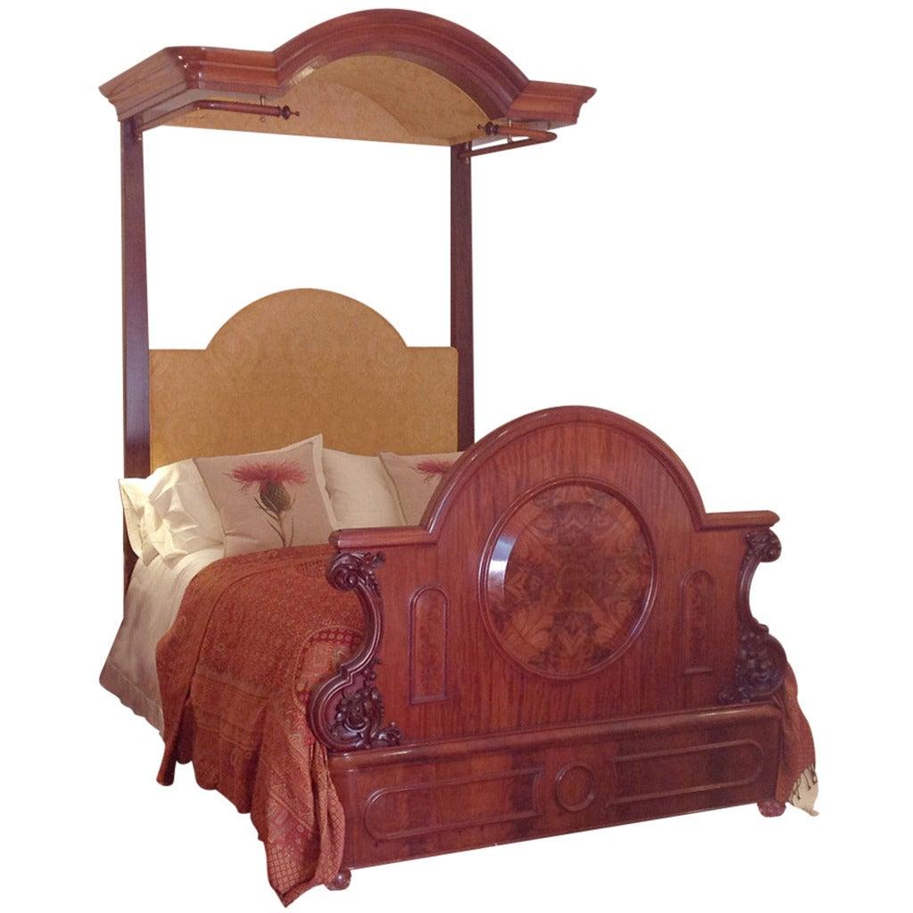 Victorian Mahogany Half Tester Bed At 1stdibs
