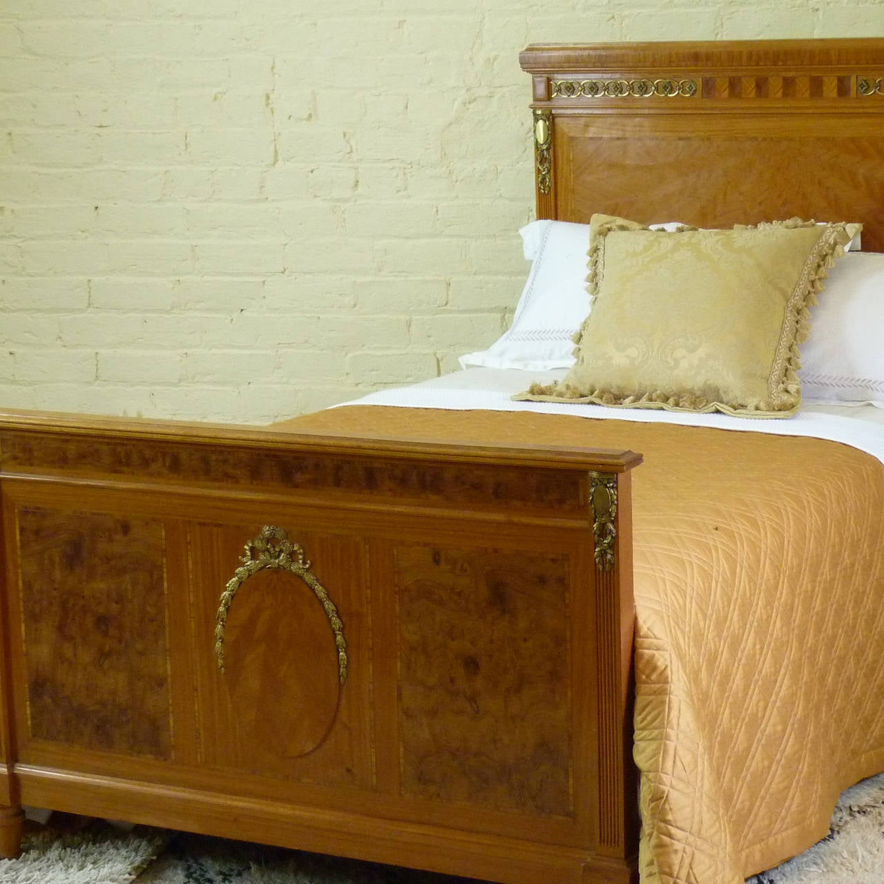 Matching pair of twin empire style beds at 1stdibs for Empire style bed