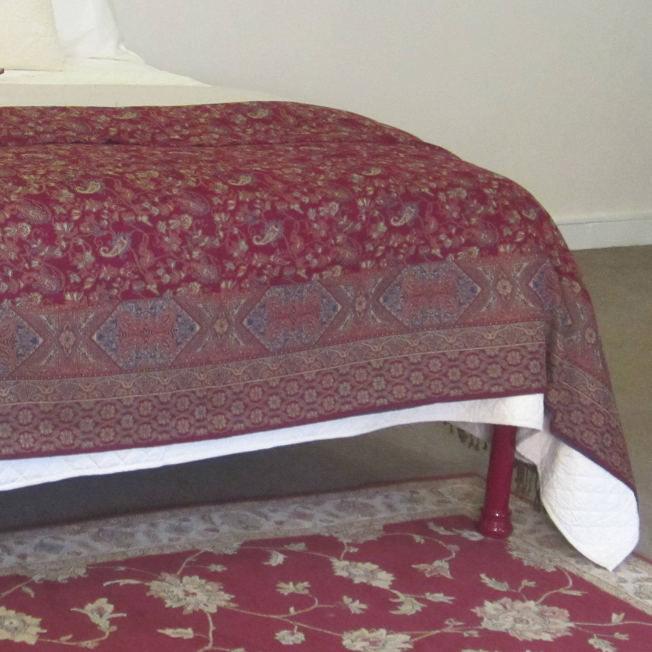 Contemporary Tartan Covered Platform Bed For Sale