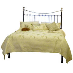 Black and Nickel-Plated Wide Bed