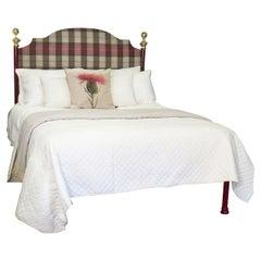 Tartan Covered Platform Bed