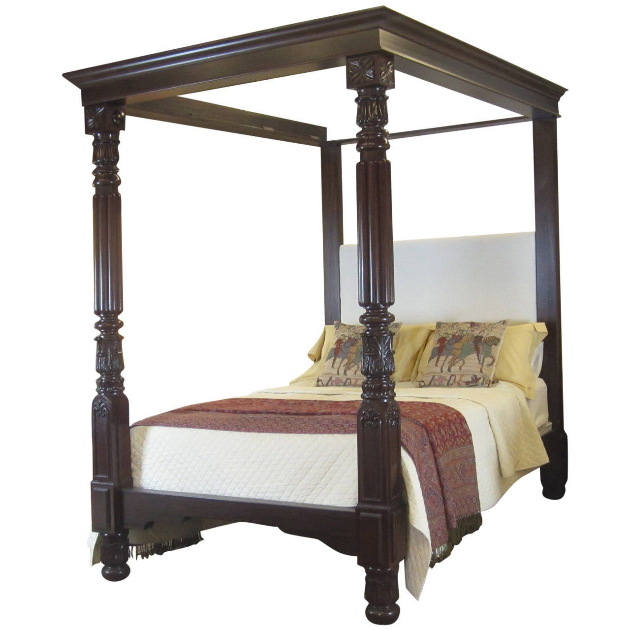 Mahogany four poster bed w4p3 for sale at 1stdibs - Four poster bedroom sets for sale ...