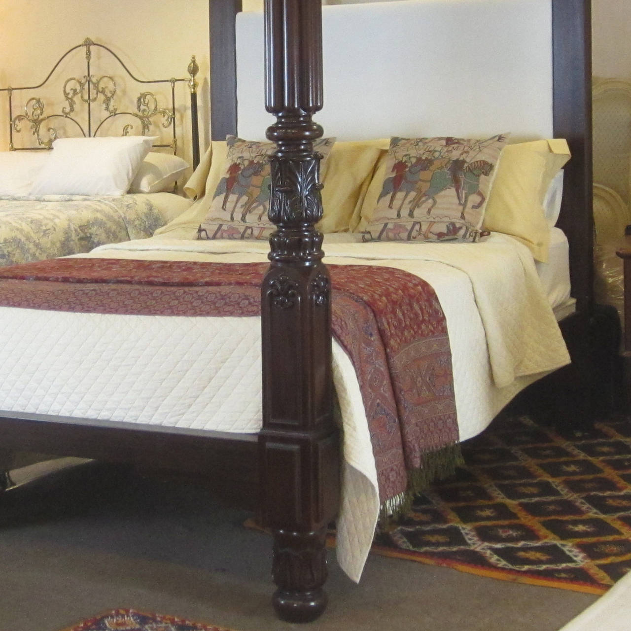 Mahogany four poster bed w4p3 for sale at 1stdibs for Four poster beds sale