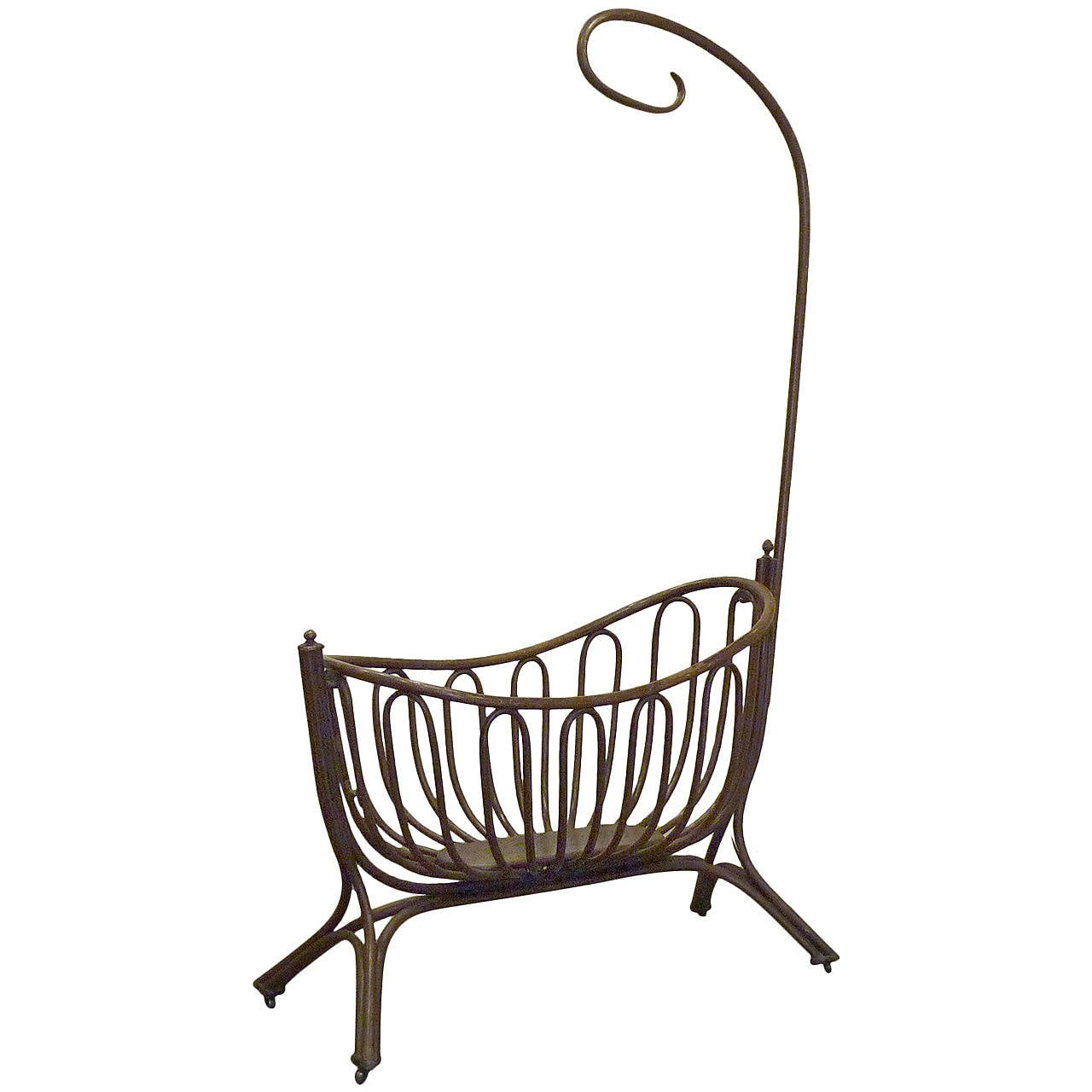 Bentwood Hanging Crib By Thonet At 1stdibs