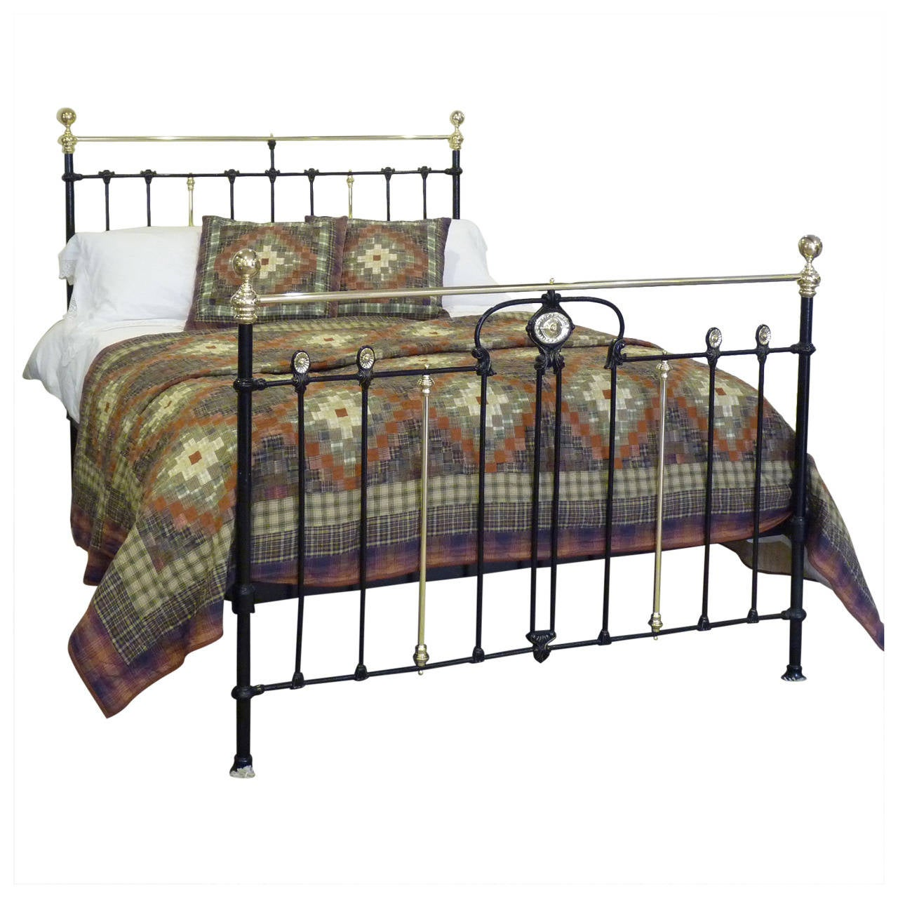 art nouveau style brass and iron bedstead at 1stdibs