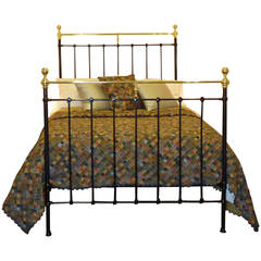 Black Double Brass and Iron Bed – MD32