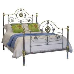 Cast Iron Blue Verdigris Bed