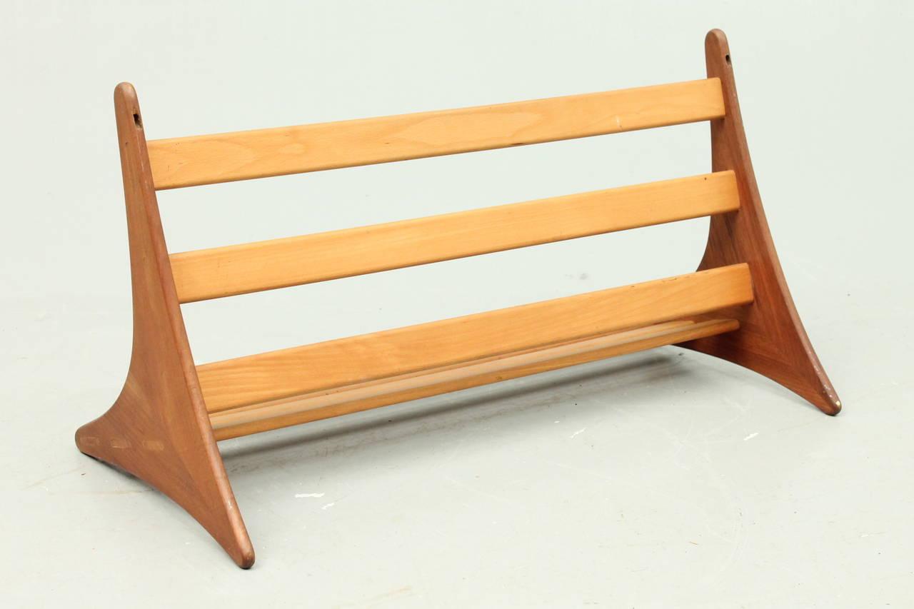 danish mid century modern shelf wall unit by b rge. Black Bedroom Furniture Sets. Home Design Ideas