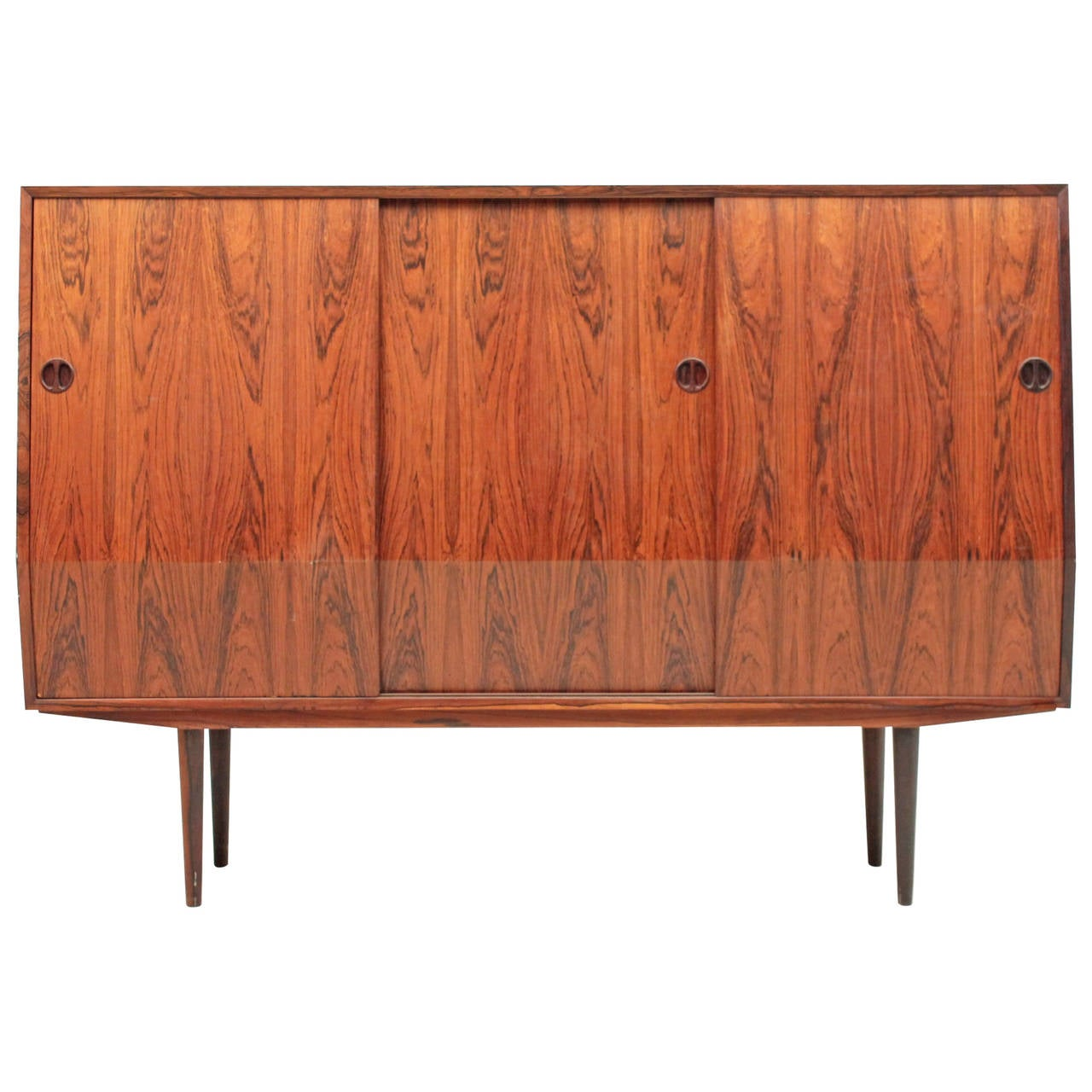 Danish Mid Century Modern Rosewood Credenza High