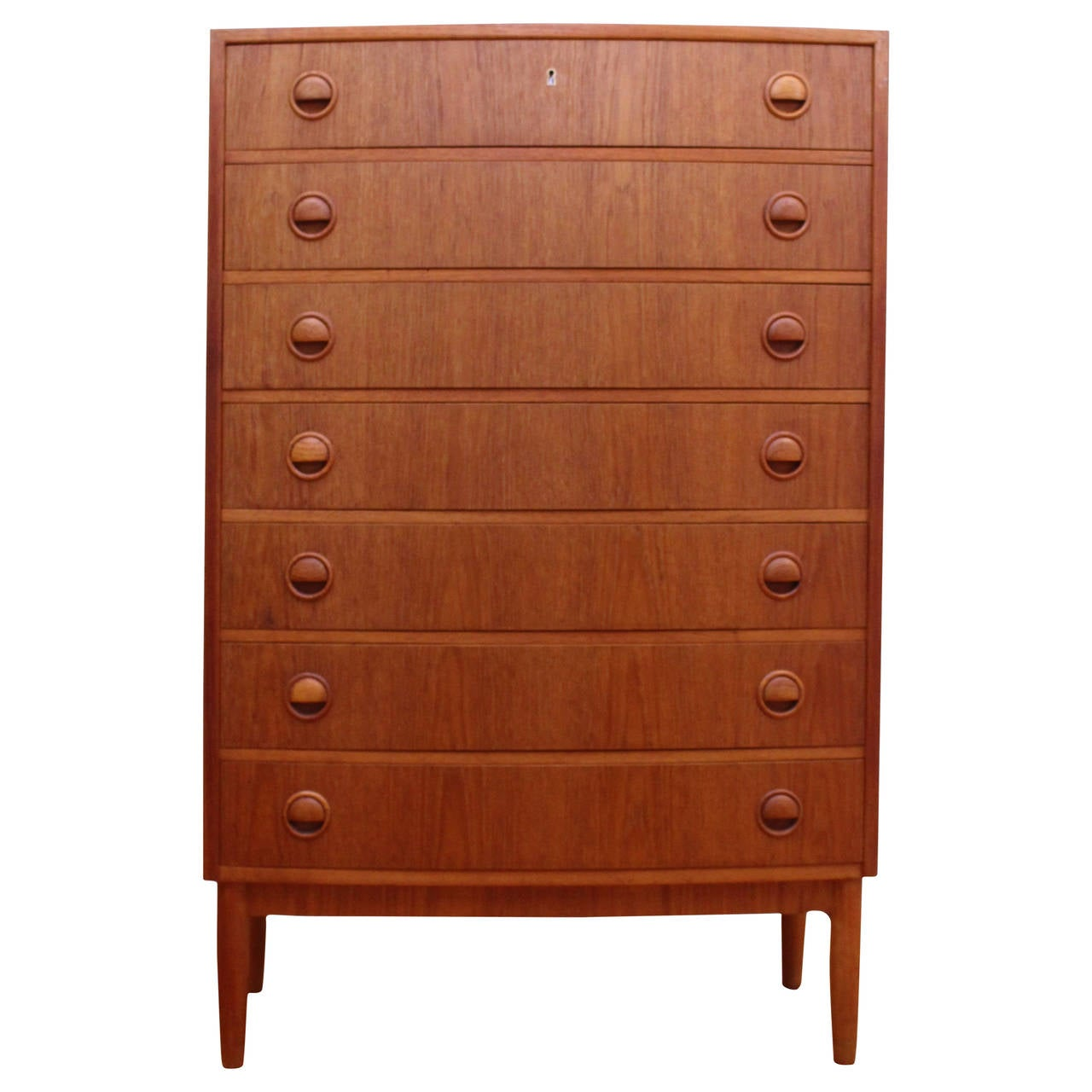 Danish mid century modern teak chest of drawers at stdibs