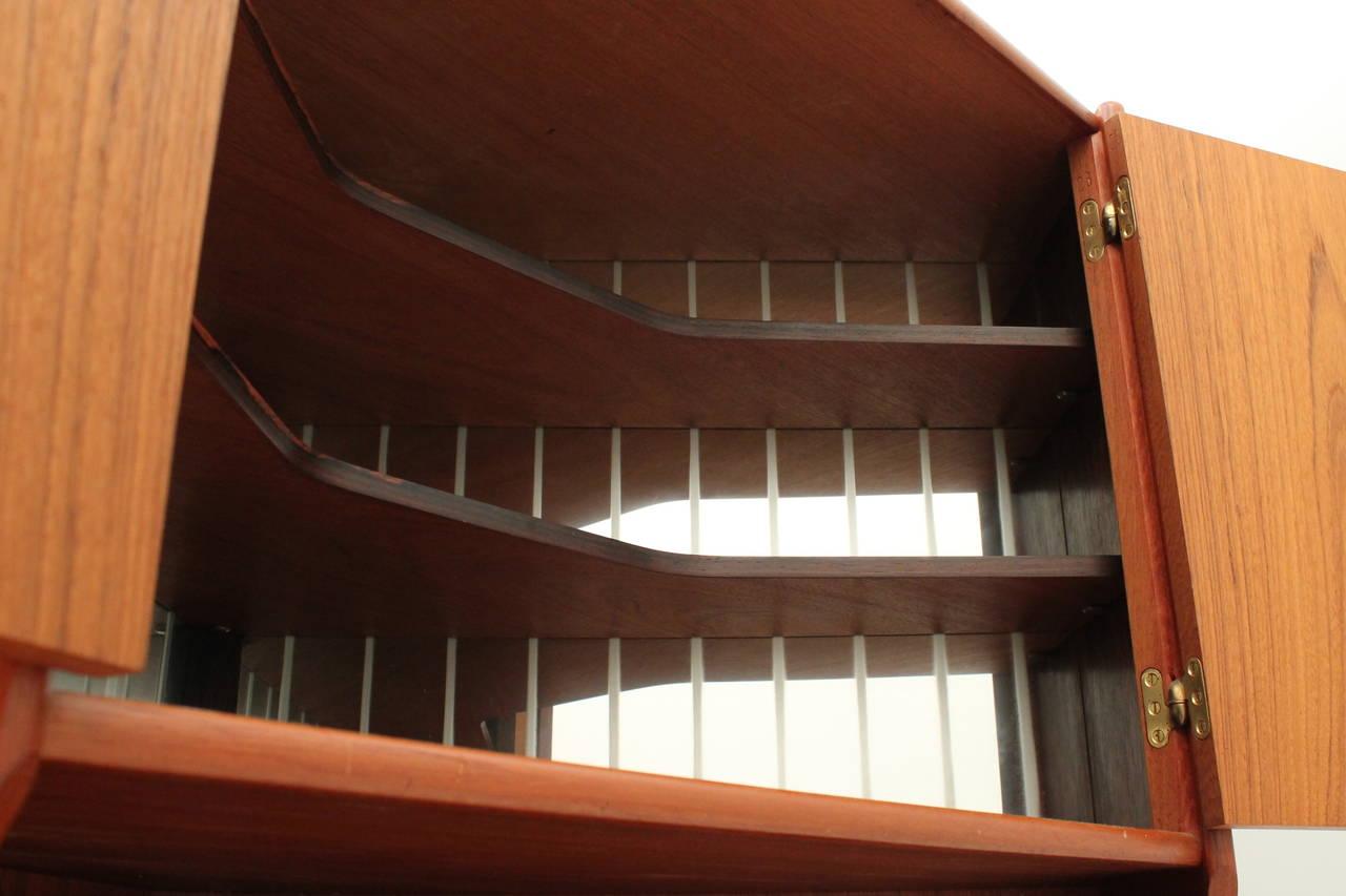 Danish, Mid Century Modern Teak Corner Cabinet By Johannes Sorth 3