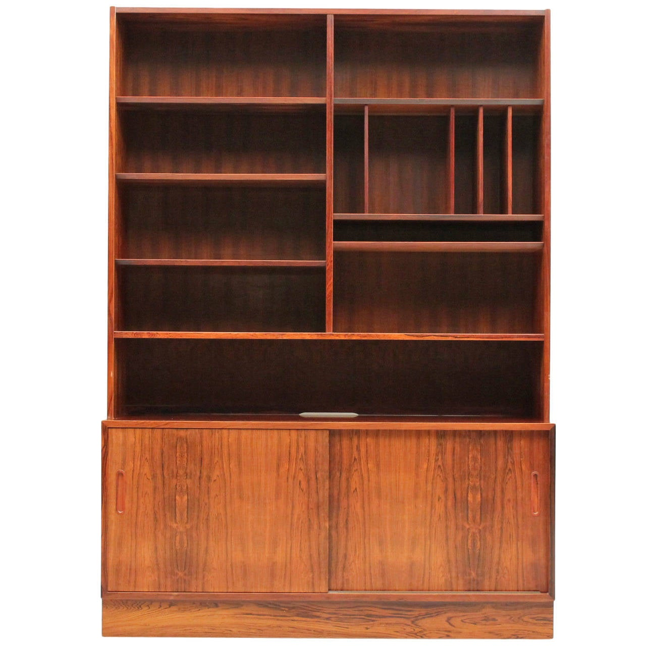 Rosewood Bookcase: Rosewood Poul Hundevad Bookcase At 1stdibs