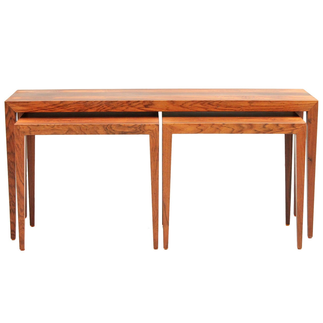 Danish mid century modern rosewood severin hansen jr for Table th means