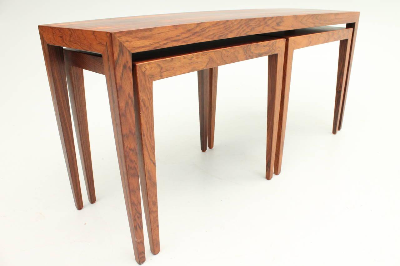 Long Nesting Tables ~ Danish mid century modern rosewood severin hansen jr