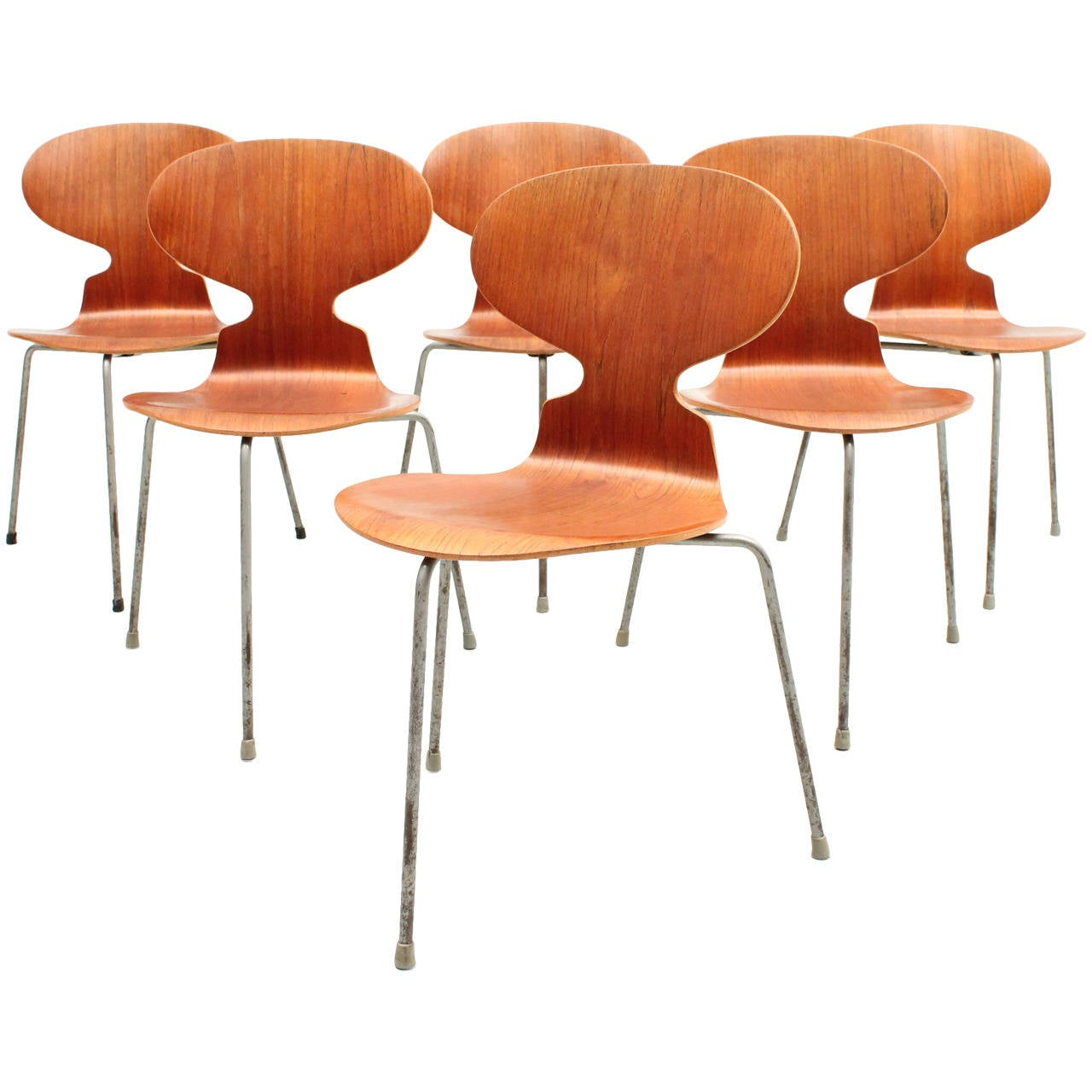Danish, Mid-Century Modern Set of Six Arne Jacobsen Ant Chairs, FH3100 1