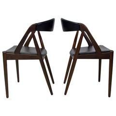 Set of Two Rosewood Kai Kristiansen Model 31 Chairs
