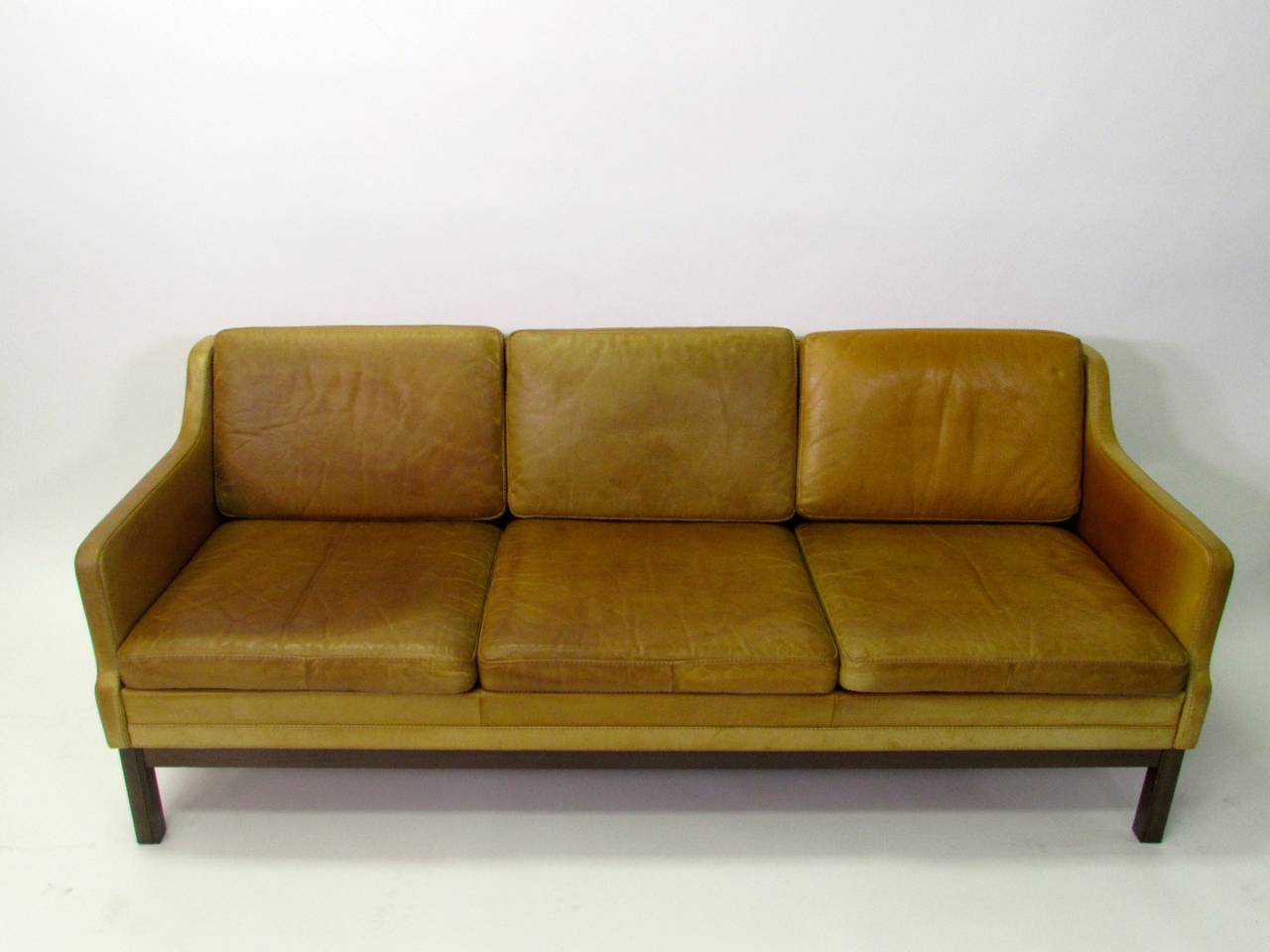 this mid century modern kurt rasmussen leather sofa is no longer